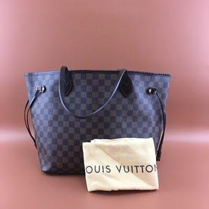 Preowned Louis Vuitton Neverfull MM Damier Ébène